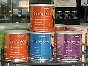 Colágeno pode ser encontrado em alimentos ou em fórmulas (Foto: Reprodução / TV TEM)