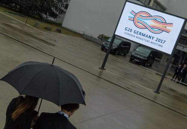 Encontro dos ministros de finanças do G20 em Baden Baden  (Foto: Jorg Schuler/Getty Images)