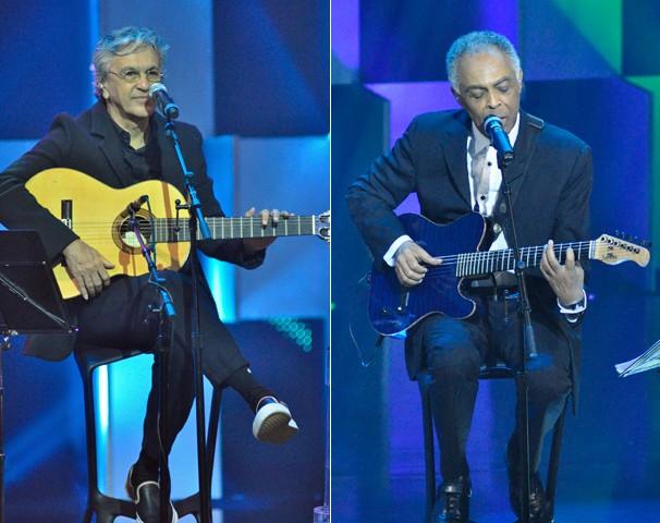 No dia 26, Caetano Veloso e Gilberto Gil farão um pocket show exclusivo no palco do Fantástico (Foto: Estevam Avellar/Globo)