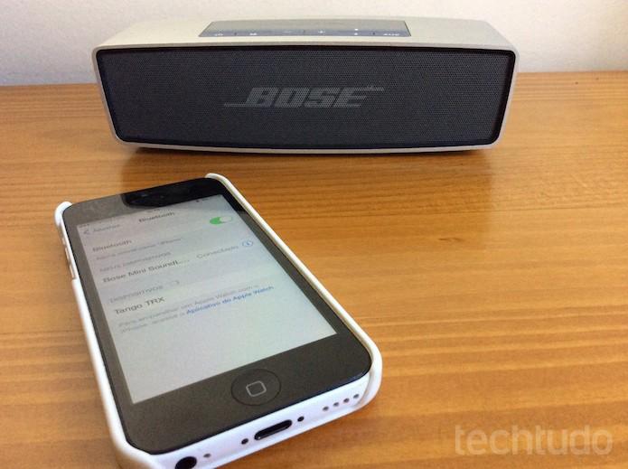 Aparelho memoriza até seis dispositivos Bluetooth (Foto: Luisa Leite/TechTudo)