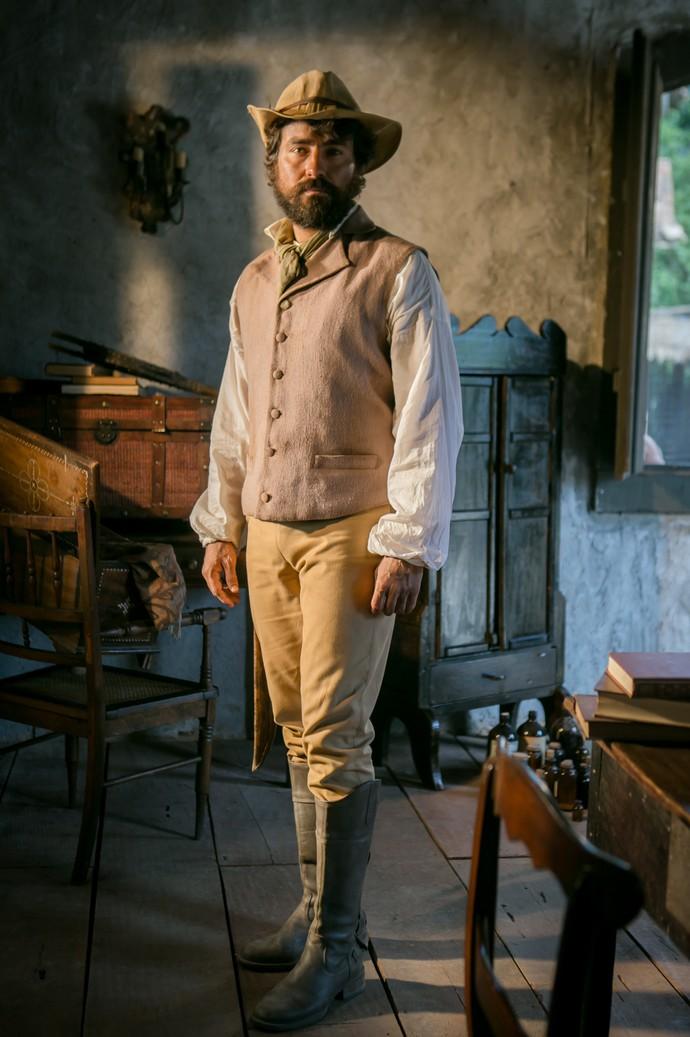 Ricardo Pereira interpreta o português Ferdinando em 'Novo Mundo' (Foto: Globo/ Raquel Cunha)