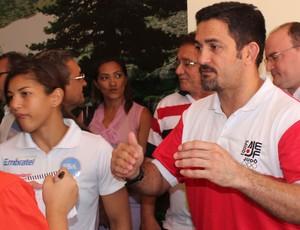 Sarah Menezes e Expedito Falcão - Projeto Superação (Foto: Aline Rodrigues)