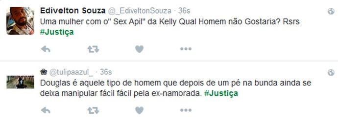 Internautas comentam volta de Kellen e Douglas (Foto: TV Globo)