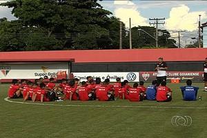 Treino - Atlético-GO - Marcelo Martelotte (Foto: Reprodução / TV Anhanguera)