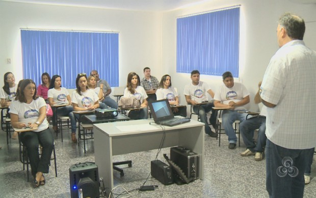 Profissionais da TV Amapá na oficina do Encontro de Jornalismo (Foto: Reprodução/TV Amapá)