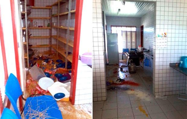 Escola Estadual Auta de Souza, em Macaíba, foi alvo de vendalismo neste último final de semana (Foto: Divulgação/Polícia Civil do RN)