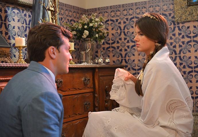 Mafalda sonha em se casar com Romeu  (Foto: Pedro Carrilho/Gshow)