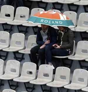 Chuva em Roland Garros (Foto: Reuters)