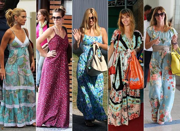 Resultado de imagem para looks para o dia a dia com vestido longo nas ruas