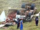 Homem morre após capotar com caminhão na MG-447 em Miraí, MG