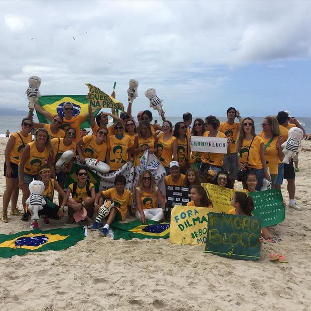 Susana Vieira e Márcio Garcia participam da manifestação (Foto: Reprodução/Instagram)
