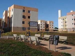 Prédio do Paranoá Parque, residencial construído por meio de programa habitacional do DF (Foto: Renato Araújo/Agência Brasília)