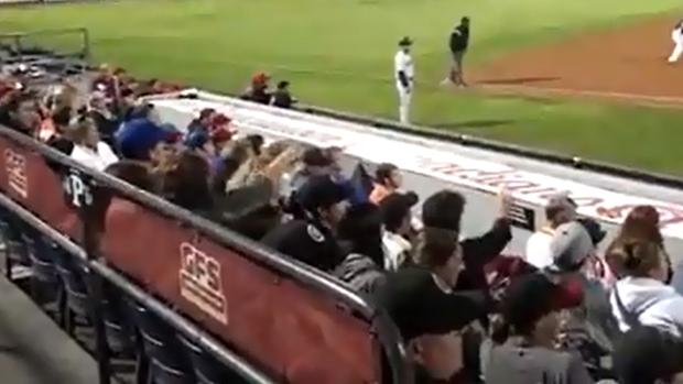 Canadenses veem ovni em jogo de beisebol (Foto: Reprodução/YouTube)