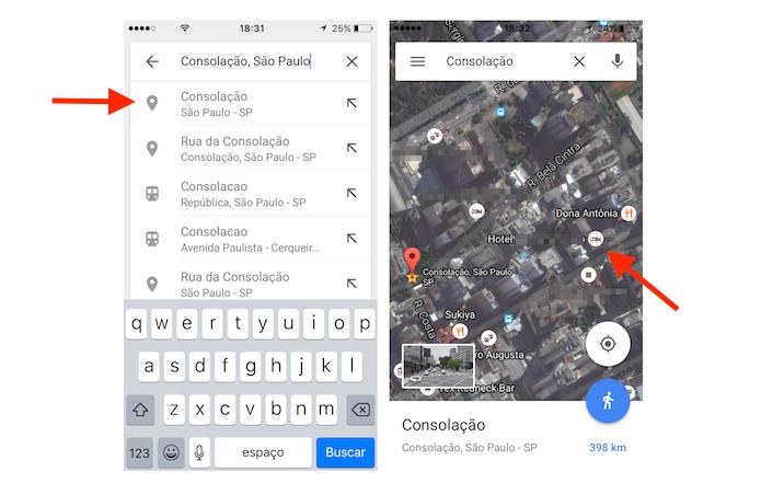 Hotéis próximos a uma cidade ou bairro no aplicativo Google Maps (Foto: Reprodução/Marvin Costa)