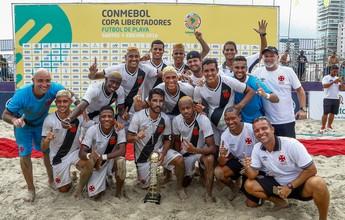 Vasco goleia Rosário Central e ganha a 1ª Libertadores de Futebol de Areia