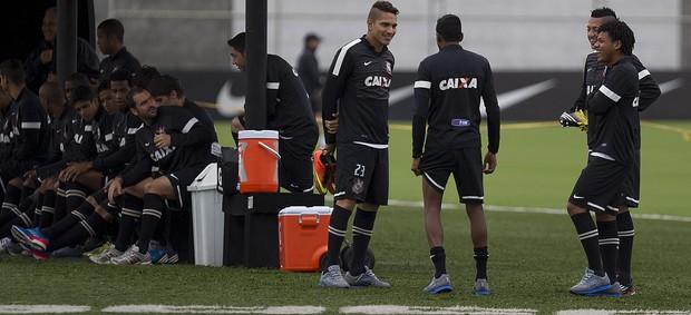 Grupo do Corinthians treino (Foto: Daniel Augusto Jr / Agência Corinthians)