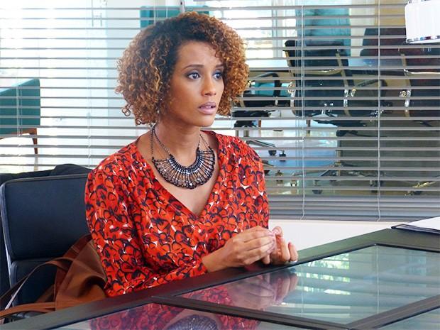 Verônica fica possessa ao saber que Jonas está solto (Foto: Geração Brasil/ TV Globo)