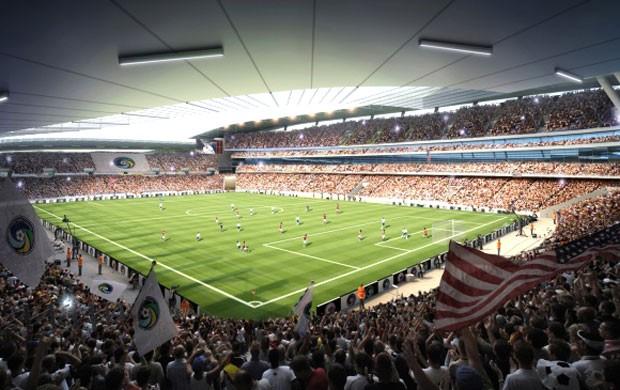 projeto do novo estádio do New York Cosmos (Foto: Divulgação)