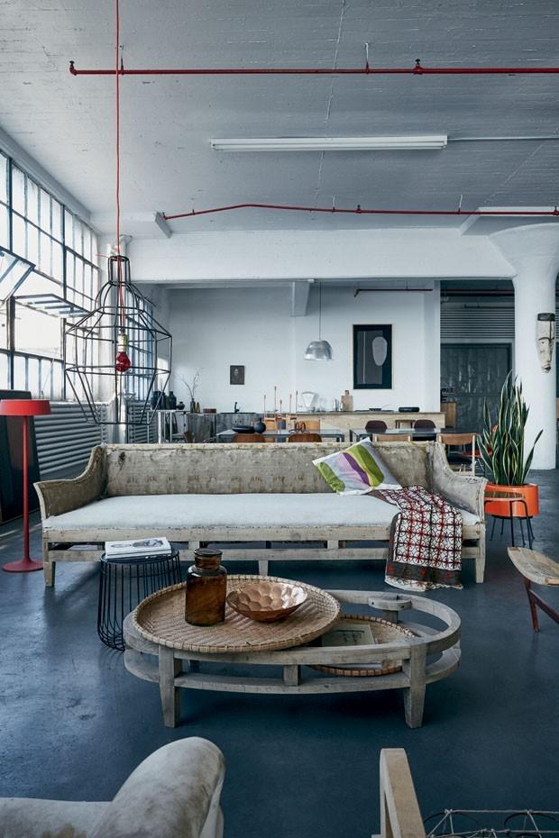 Décor do dia: estilo urban destroyed na sala de estar (Foto: Divulgação)