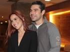 Wanessa e o marido vão a pré-estreia de filme dirigido por Márcio Garcia