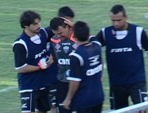 Fernando Pompéu, goleiro do Araxá Esporte Clube (Foto: Reprodução/TV Integração)