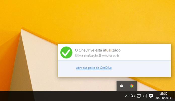 OneDrive vem ativado por padrão e cobra se passar dos 15 GB guardados (Foto: Reprodução/Paulo Alves)