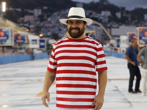 Jonas Torres na Sapucaí (Foto: Artur Meninea/Gshow)