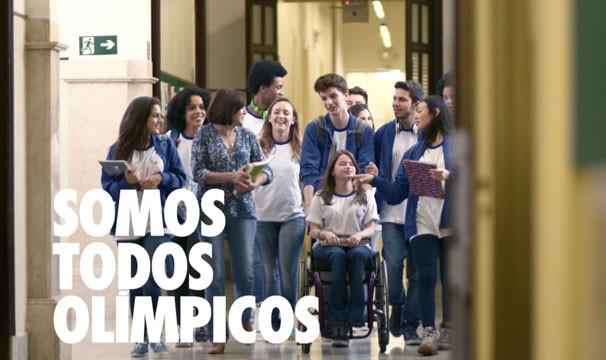 No ano dos Jogos Olímpicos, vídeo convoca alunos a continuarem na escola após as férias (Foto: Globo)