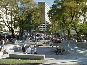 Praça do Skate em Petrópolis (Foto: Reprodução/Google Mapas)