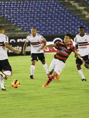 Campinense 3 x 0 Santa Cruz, no Estádio Amigão (pela 1ª fase da Copa do Nordeste 2013) (Foto: Magnus Menezes / Jornal da Paraíba)