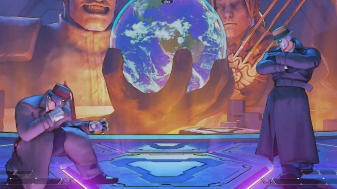 O misterioso Q consegue se infiltrar em Street Fighter 5 mesmo sem ter sido convidado (Foto: Reprodução/YouTube)
