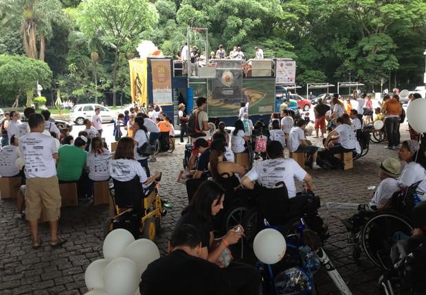 Evento reuniu cerca de 2.000 pessoas em São Paulo, de acordo com a organização (Foto: Cauê Fabiano/G1)