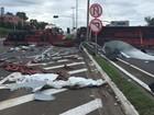 Acidente com cinco veículos deixa feridos em Farroupilha, RS