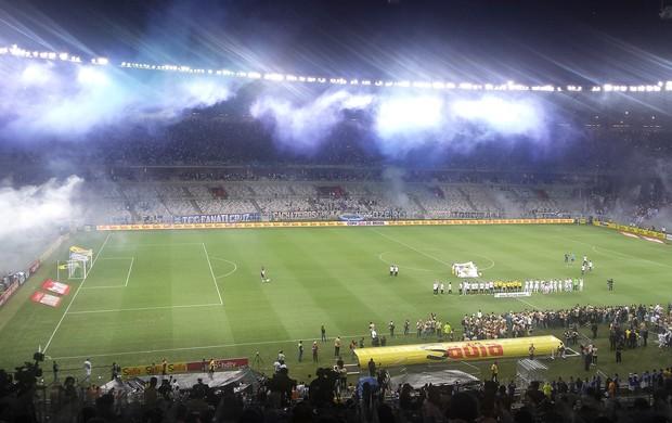 cadeiras vazias do Mineirão na decisão da Copa do Brasil