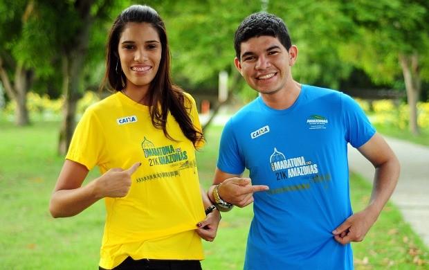 Camisas da meia maratona do Amazonas (Foto: Michael Dantas/Sejel)
