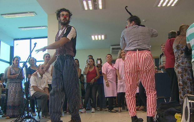Espetáculo 'Números' é apresentado no Hospital do Câncer' (Foto: Rondônia TV)