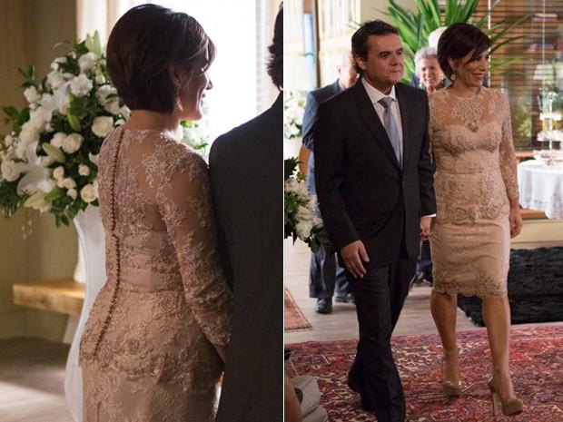 Os noivos esbanjaram elegância no casamento (Foto: Felipe Monteiro / Gshow)