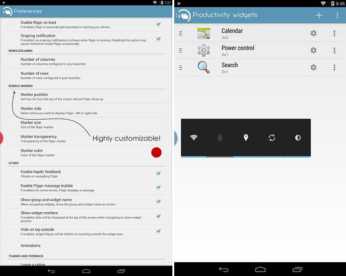 Flippr é um app que permite que widgets flutuem sobre a tela (Foto: Divulgação/Flippr)