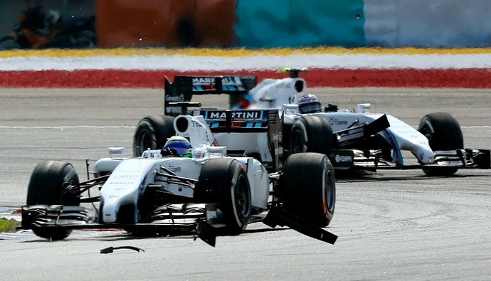 Felipe Massa Valtteri Bottas Williams GP da Malásia (Foto: AFP)