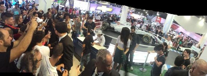 Felipe Massa Williams Salão do Automóvel (Foto: @WilliamsRacing)