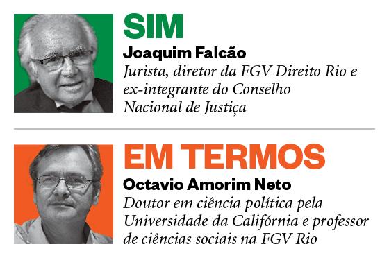 Debatedores Corrupção: Joaquim Falcão e Octavio Amorim Neto (Foto: ÉPOCA)