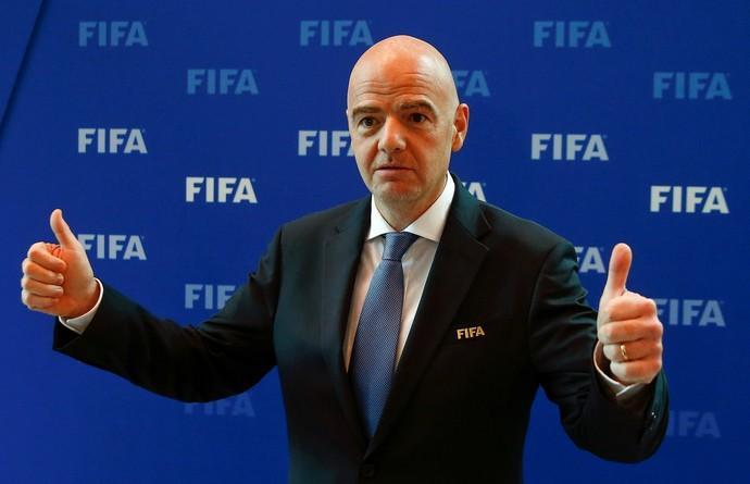 gianni infantino, presidente da fifa (Foto: REUTERS/Arnd Wiegmann)