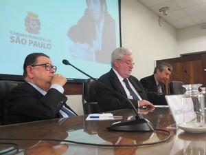 Delfim Neto presta depoimento na Comissão da Verdade de São Paulo (Foto: Roney Domingos/G1)