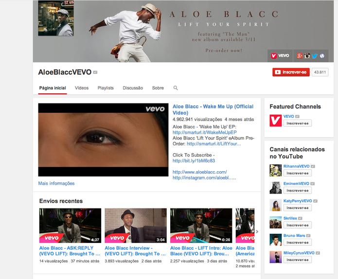 Novo visual dos canais do YouTube (Foto: Reprodução/Google)
