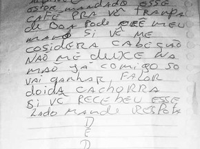 Agente acha bilhete endereçado a detento em Guajará-Mirim, RO (Foto: Júnior Freitas/G1)