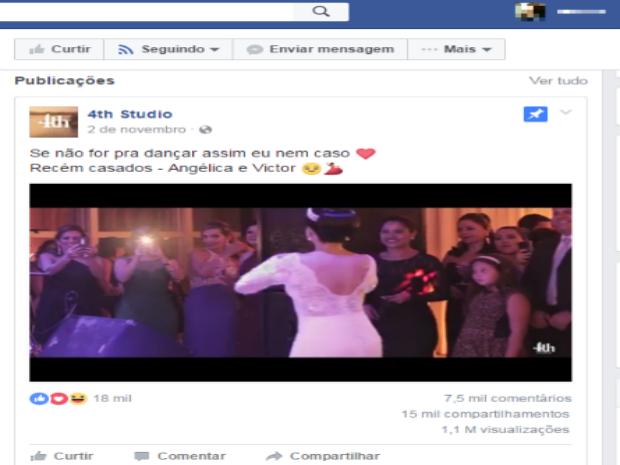 Vídeo de noivos dançando forró viraliza e já tem mais de 1 mi de visualizações em página do Facebook (Foto: Reprodução/Facebbok)