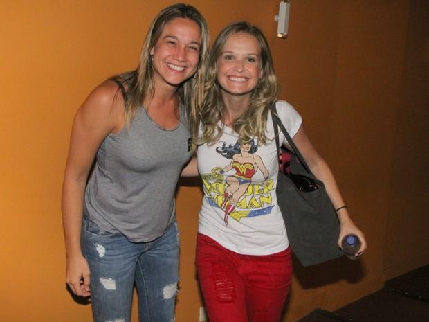 Fernanda Rodrigues e Fernanda Gentil em teatro na Zona Sul do Rio (Foto: Daniel Delmiro/ Ag. News)