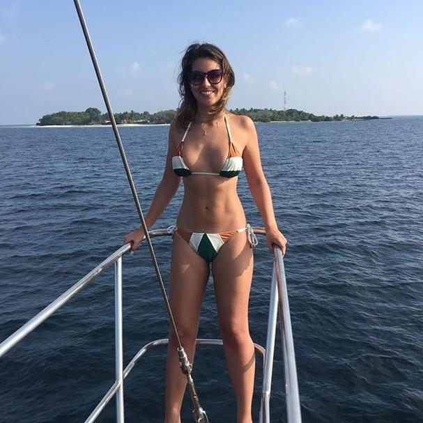 Lua de mel de Fabio Porchat e Nataly Mega nas Ilhas Maldivas (Foto: Reprodução/Instagram)