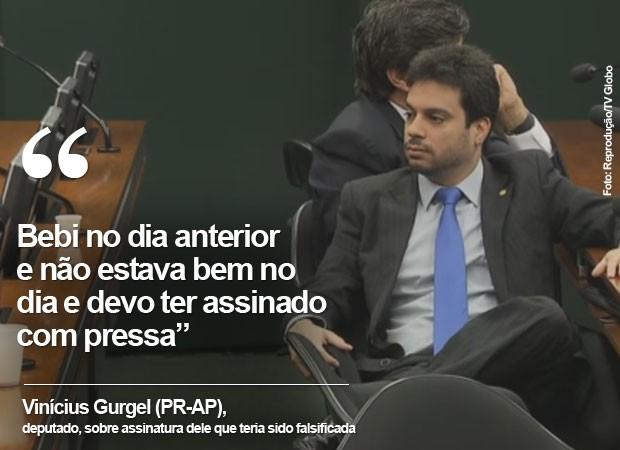 Frase Vinicius Gurgel (Foto: Arte/G1)