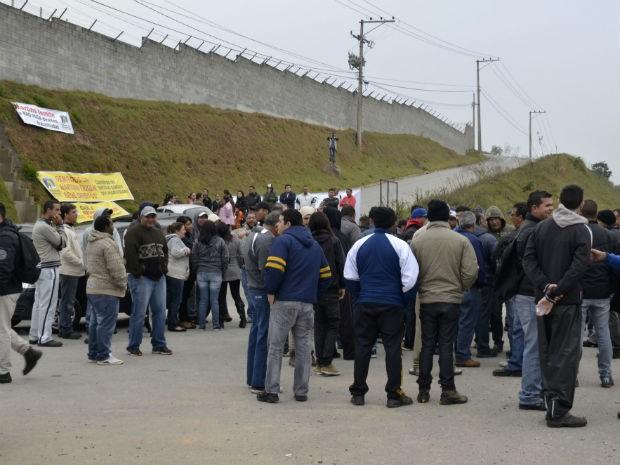 Protesto em Araçariguama (Foto: Divulgação/Sindicato dos Metalúrgicos)